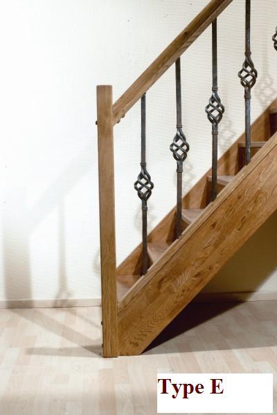 Type hekwerk balustrade en trap leuningen - Trap ijzer smeden en hout ...